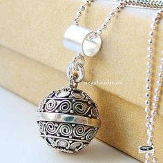 Chime Pendant Necklace Harmony Ball Dream Bell by MegaBeadStore, $29.99