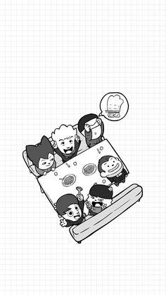 Bts Hiphop Monster, Hip Hop Monster, Doodle Sketch, Drawing Sketches, Kpop Drawings, Kdrama, Bts Chibi, Kpop Fanart, Bts Suga