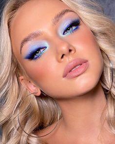Glam Makeup, Cute Makeup, Pretty Makeup, Stunning Makeup, Makeup Eye Looks, Eye Makeup Art, Skin Makeup, Bold Eye Makeup, Mermaid Makeup Looks