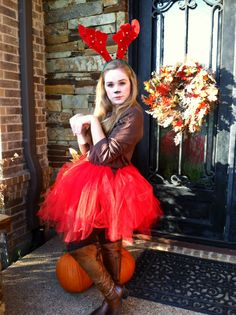 Homemade reindeer costume ideas kitchen pinterest reindeer santas reindeer group halloween costume feat comet brown leggings and long sleeved shirt diy solutioingenieria