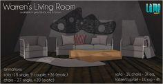 .lame - Warrens Living Room @ FaMESHed! by Divine Falodir (.lame furniture), via Flickr