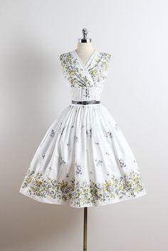 Prospect Park . vintage 1950s dress . 50s by millstreetvintage