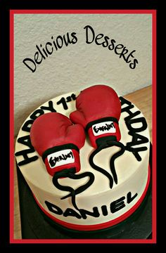 Boxing theme cake
