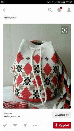 Knitting Terms, Intarsia Knitting, Knitting Blogs, Knitting Kits, Loom Knitting, Crochet Table Runner Pattern, Crochet Blanket Patterns, Crochet Ideas, Handmade Kids Bags