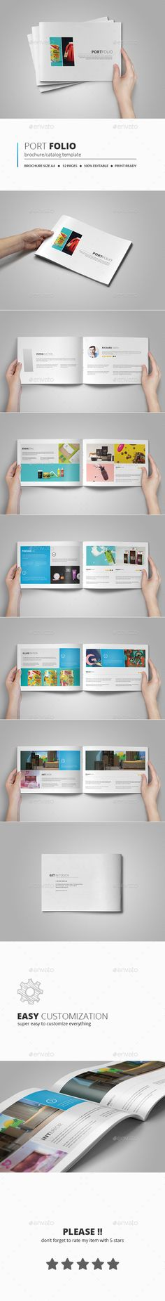 Portfolio Brochure Template  —  PSD Template • Only available here! →…