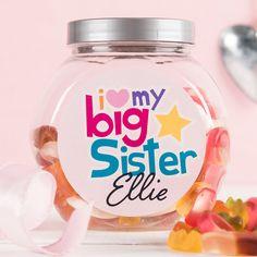 Personalised Haribo Sweet Jar Big Sister