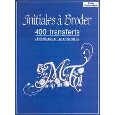 Collectif - Initiales à broder - 400 transferts