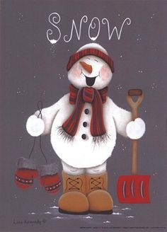 Snow Happy Fine-Art Print by Lisa Kennedy at FulcrumGallery.com