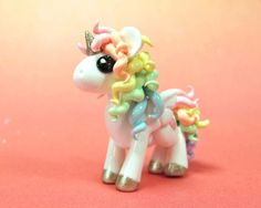 Reserved for Sarah - Pastel Rainbow Unicorn. Yay its for me! ( sadly, not true!)