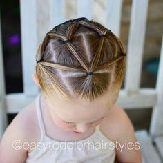 """395 Likes, 13 Comments - Tiffany ❤️ Hair For Toddlers (@easytoddlerhairstyles) on Instagram: """"Fun elastic style. I love how this one looks from all angles! You know how sometimes you get done…"""""""
