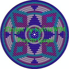 This chart is usable for crocheters that already know how to use the tapestry crochet technique. It shows the design of a circle that can be used as a frisbee, a placemat or the bottom of a bag or mochila.