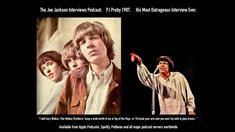 """PJ Proby: """"I told Gary Walker 'I will break your hands then you won't be... Walker Brothers, The Joe, How To Play Drums, Pj, Rock N Roll, Jackson, Interview, Hands, Rock Roll"""
