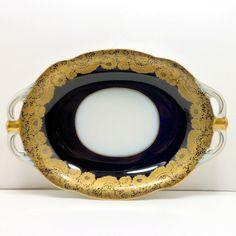 Hutschenreuther  Porcelain Echt Kobalt Gold by CollectMemories