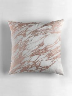 Chic Elegant White and Rose Gold Marble Pattern by Blkstrawberry