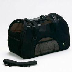 Bergan Comfort Carrier Soft-Sided Pet Carrier, Large, Black --- http://www.amazon.com/Bergan-Comfort-Carrier-Soft-Sided-Large/dp/B0015AFZZ4/?tag=Peteconv-20
