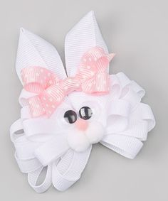 Loving this Easter Bunny Bow Clip on #zulily! #zulilyfinds