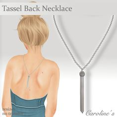 Second Life Marketplace - (Caroline's Jewelry) Tassel Back in Silver
