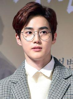 Happy birthday suho🙌🙌 also please wear glasses as often as you can, we need more😭 - - - exo exol suho junmyeon baekhyun kyungsoo sehun chanyeol chen jongdae kai jongin lay yixing xiumin minseok Suho Exo, Exo Ot12, Kpop Exo, Exo K, Chen, Kris Wu, K Pop, Kai, Kim Joon Myeon