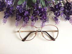 24e05aa778a Items similar to Stoeffler Pink Gold Glasses Salmon Round Vintage Eyeglasses  Nerd glasses German Designer glasses Retro Hipster glasses 80s Spectacle  frame ...