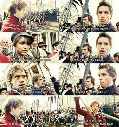 Les Miserables. I LOVED the book(s) and I was so impressed with the movie as well. Aaron Tveit and Eddie Redmayne played their parts beautifully and Anne Hathaway stole the show! Watch this movie now if you havent seen it.