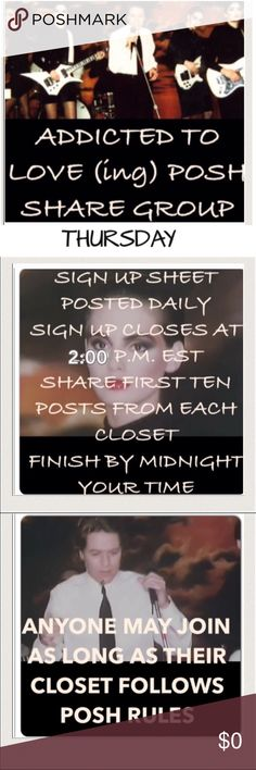 Thursday Please tag your name. Share ten items.  Finish by midnight. Please share down the list, not from your feed. If we all waited for each other to share first, no one would get shared. Accessories