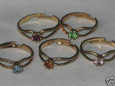 Birthstone rings.