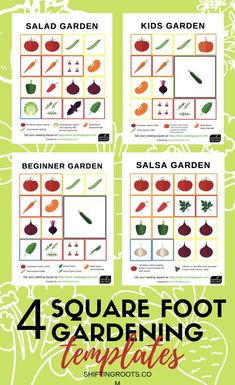 garden layout I love to square foot garden, but I never know that vegetable to put where in my raised beds--its so hard to make a plan. Now I dont have to guess with these free printable square foot gardening templates using the seeding square! Raised Vegetable Gardens, Vegetable Garden Planning, Veg Garden, Vegetable Garden Design, Easy Garden, Vegetable Gardening, Garden Art, Flower Gardening, Planning A Garden Layout