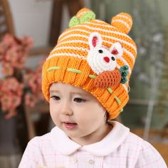 cac73fcc8a5 Sherpa bunny hat for toddlers winter knit beanie hat