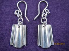 Margit-korvikset Fork Jewelry, Silverware Jewelry, Recycled Jewelry, Silver Spoons, Forks, Hobbies And Crafts, Jewelery, Helmet, Drop Earrings