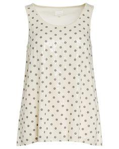 Uldahl Top mit Punkte-Muster - creme Jetzt auf kleidoo,de bestellen!  #kleidoo #shirts #top #creme #udahl