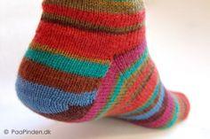 Sokker fra tåen op med kilehæl