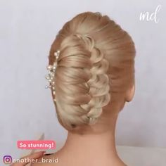 Wearing this gorgeous french twist hairdo is a dream! By: Wearing this gorgeous french twist hairdo is a dream! Vintage Hairstyles, Down Hairstyles, Braided Hairstyles, Female Hairstyles, Hairstyle Men, Style Hairstyle, Hairstyles 2018, Medium Hairstyles, Hair Updo