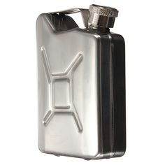5 oz Stainless steel bottle shaped like a Jerry Can to hold your drinks.  If you are interested to purchase this, just click on the picture and it will bring you to the site. There's more info at the site too.