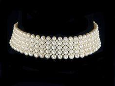 "woven big pearls choker "" bohemian collection"", by Marina J"
