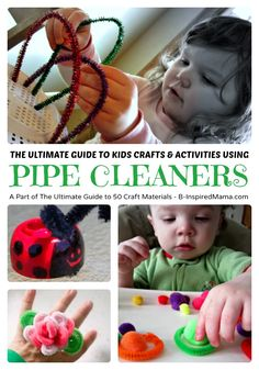 The Ultimate Guide to Fun Crafts and Activities using Pipe Cleaners - B-Inspired Mama fun craft, craft activities, kid crafts, pipe cleaner