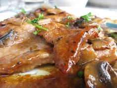 Veal marsala at Angelo's. Little Italy, Cleveland OH, June 2010 by Janet Moore-Coll, via Flickr