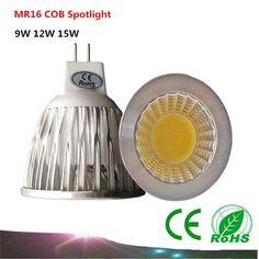 1PCS MR16 12V COB LED Bulb  9W / 12W / 15W Spotlight LED lamp warm white / white / cool white LED Lights