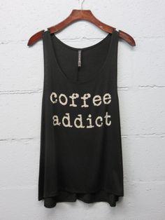 Coffee Addict Tank - Black