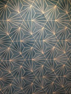 Claesson Koivisto Rune Dandelion tiles for Marrakech Design – interestingly they remind me of traditional Japanese patterns.:: Dandelion - azure/milk - Collection 2012 - Marrakech Design is ::dandelion tiles green - no piso do corredorGold and blue Wall Paint Patterns, Painting Patterns, Tile Painting, Textures Patterns, Print Patterns, Pattern Ideas, Floor Patterns, Motif Art Deco, Art Deco Tiles