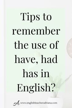 Learn when to use the Perfect Tenses in English. Click the link below for the full video lesson English Grammar For Kids, Teaching English Grammar, Grammar Lessons, English Vocabulary Words, English Language Learning, English Phrases, Learn English Words, English Phonics, English Idioms