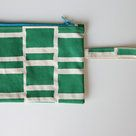 "Clutch bag ""Green Blocks"" by Sew&Such. Shop on Hellopretty.co.za"