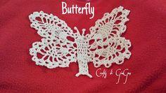 Farfalla all'uncinetto. Crochet butterfly