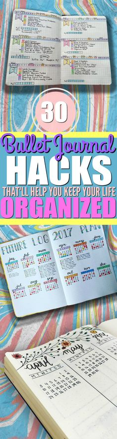 If you want to keep your life organized, then you should really check out these tips and ideas on how to start a bullet journal! With a bullet journal, I can now plan and keep track of all the upcoming events for the entire week in my weekly logs, the ent Bullet Journal Book, Bullet Journal Banners, Bullet Journal Hacks, Bullet Journal How To Start A, Bullet Journal Layout, Journal Pages, Bullet Journals, Art Journals, Journal Inspiration