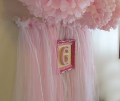 Pink tulle backdrop