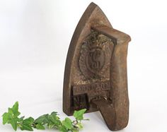 """Antique Iron made of Cast Iron, """"Gendarme"""", Number 5, Shabby Chic Home Decoration, Door Stop / Bookends / Documents, Made in France, 1850"""