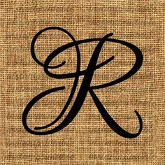 Monogram Initial Letter R Letter Clip Art by InstantPrintable