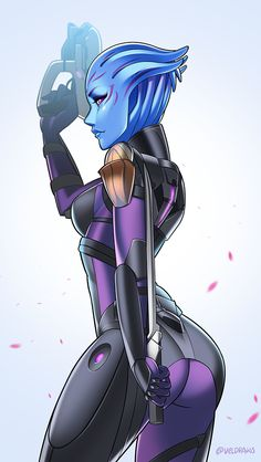 A redraw of my asari OC! The asari sword is seriously my favorite new thing f78015ffc
