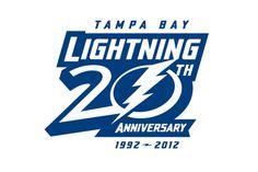 Tampa Bay Lightning Anniversary Logo on Chris Creamer's Sports Logos Page - SportsLogos. A virtual museum of sports logos, uniforms and historical items. Nhl Logos, Hockey Logos, Fox Sports, Sports Logo, Sports Teams, Sports Shirts, Tampa Bay Hockey, Tampa Bay Lightning Logo, Tampa Bay Lighting