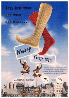 Fantastic A4 Glossy Print - 'Wolsey Socks' (1) - Retro Pr…