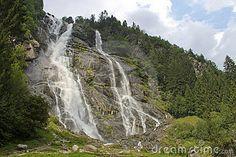 The Great Waterfall - Val di Genova, Trentino, Italy.